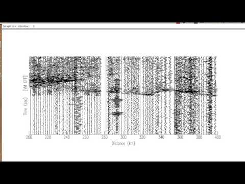 Deep Seismic Refraction - Processing - SAC