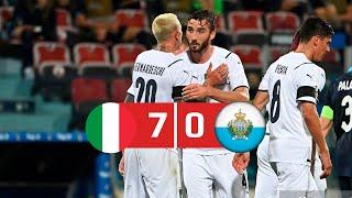 Italy Vs San Marino 7-0 All Goals & Highlights 28/05/2021 HD