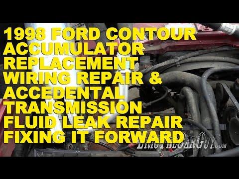 1998 Ford Contour AC Repair, Wiring Repair, Transmission Fluid Leak Repair -Fixing it Forward