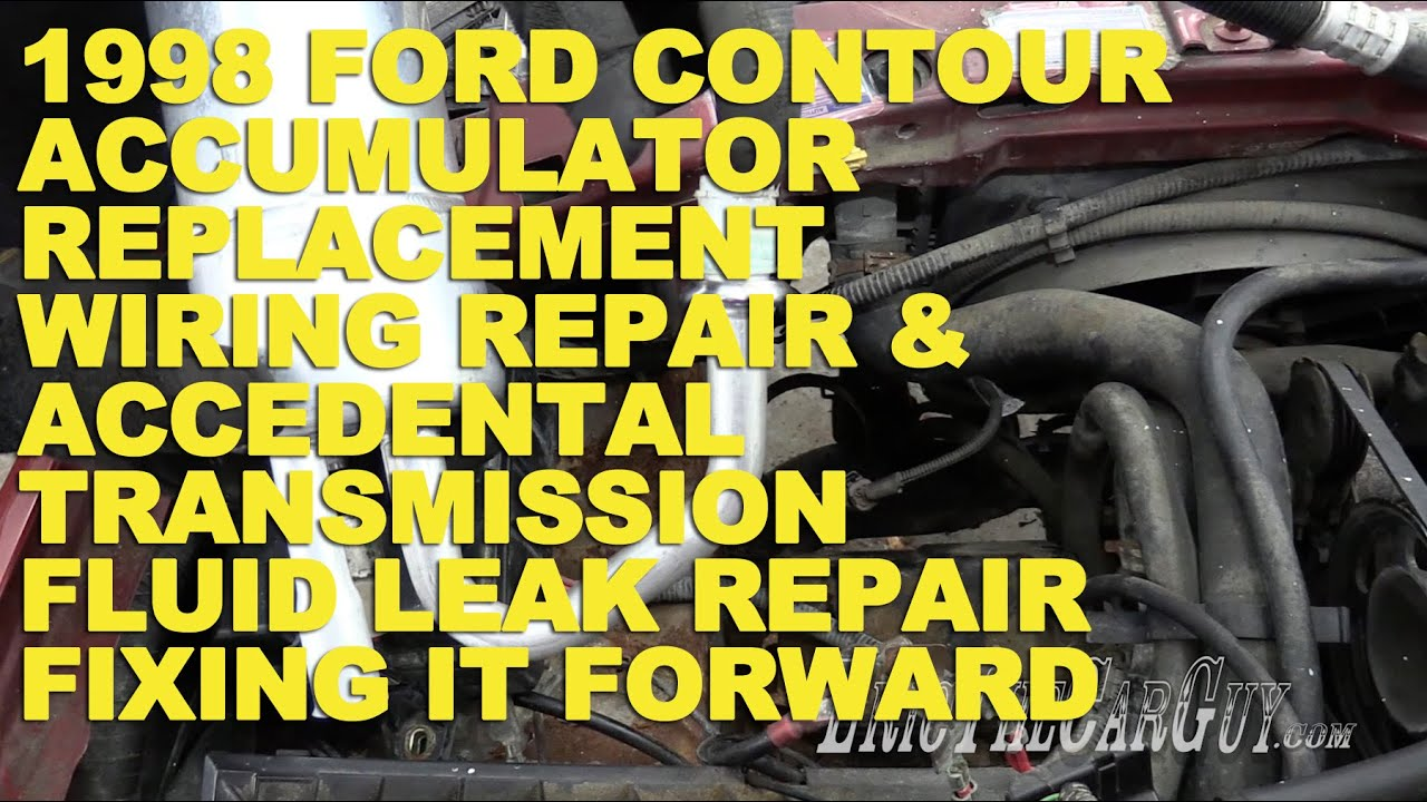 1998 ford contour ac repair wiring repair transmission fluid leak rh youtube com 1998 ford contour wiring diagram ford contour fan wiring harness