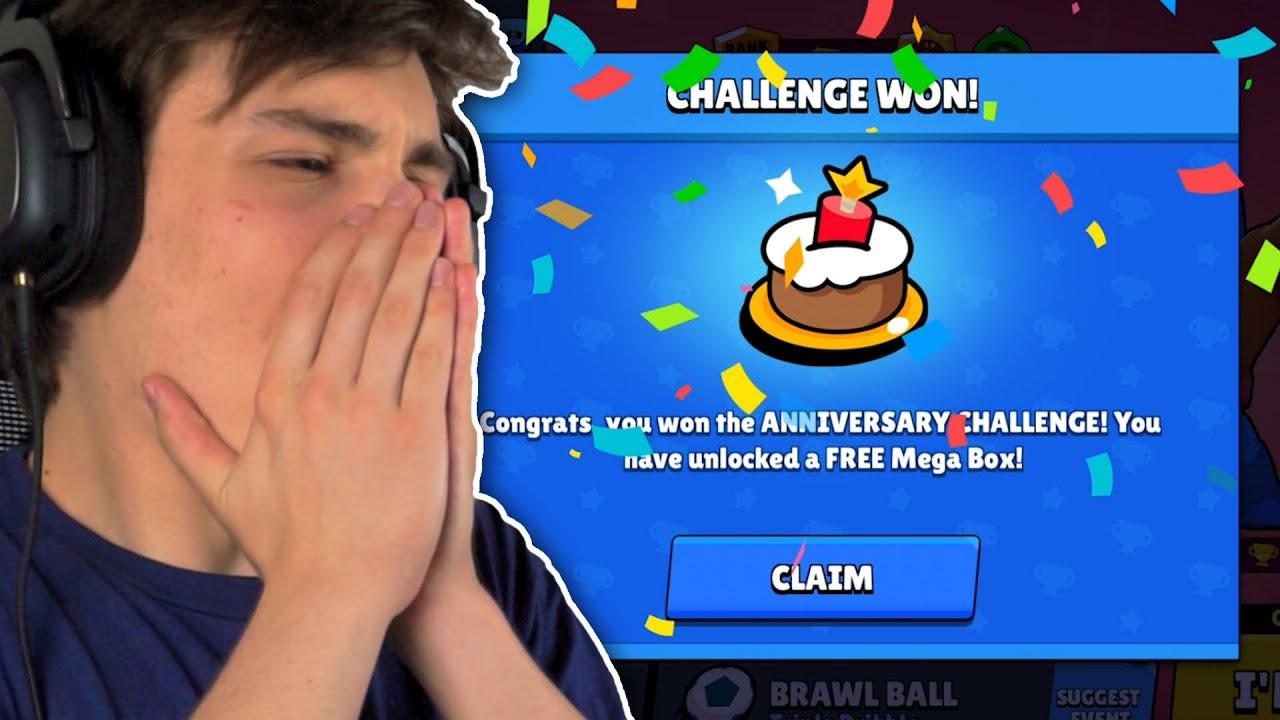 დაბადების დღის CHALLENGE = უფასო MEGA BOX | Brawl Stars