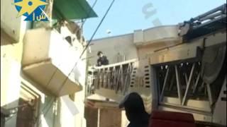 بالفيديو .. انقاذ سيدة ونجلهامن انهيار منزل بالبحيرة: