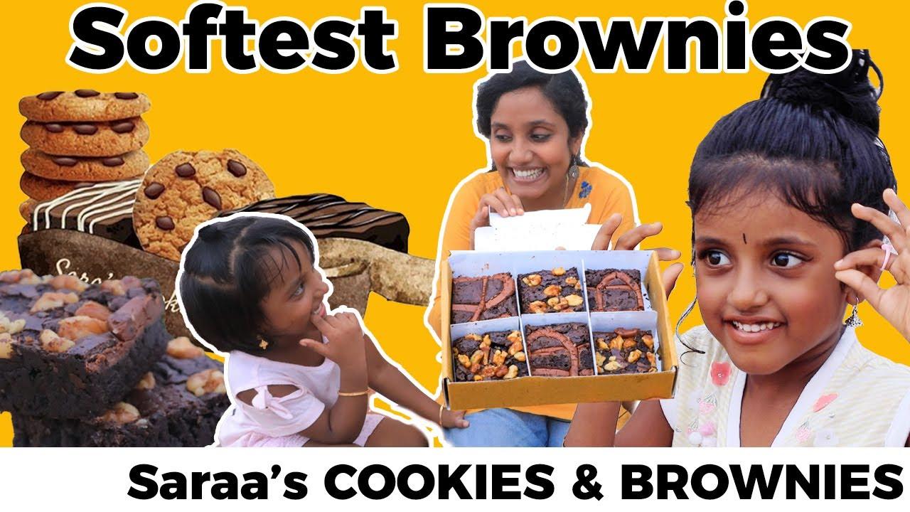 Nutella and walnut brownies I Sara's cookies | Tastee With Kiruthiga