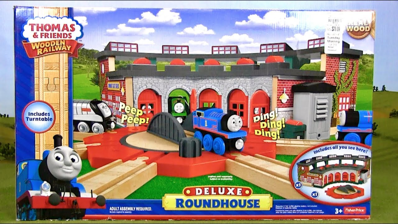 Deluxe Roundhouse Unboxing & Review | Thomas & Friends Wooden ...