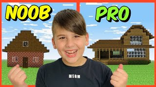 NOOB VS PRO BUILD BATTLE ΣΠΙΤΙ ΣΕ 5 ΛΕΠΤΑ MINECRAFT FAMOUS GAMES @Let's Play Kristina