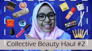Collective Beauty Haul 2016 + Harga! (Aliexpress, Wardah, Urban Decay, Just miss, Maybelline, dll)
