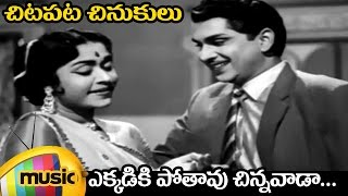Chitapata Chinukulu Songs | Ekkadiki Poothavu Video Song | Aatma Balam Movie | ANR | Saroja Devi