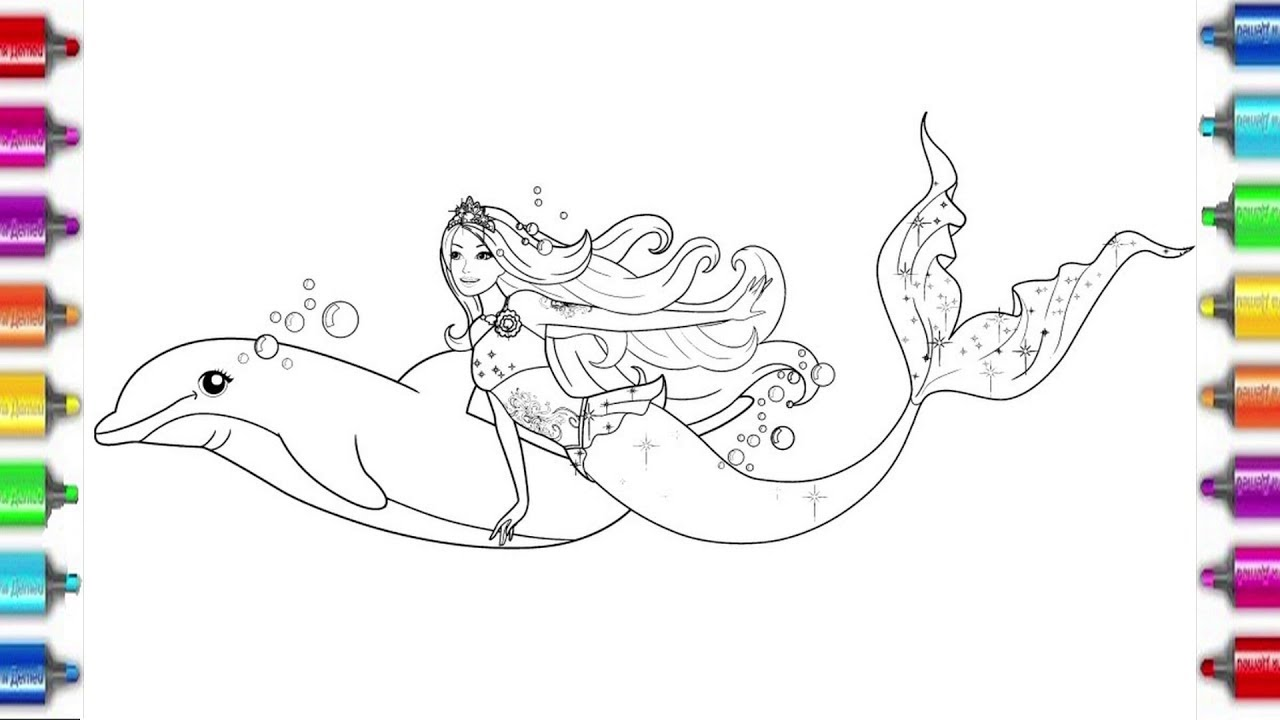 Barbie Mermaid   coloring pages for kids   Барби русалка ...