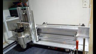 TEIL 3 eine budget diy cnc fräse entsteht,eigenbau,selbst erdacht,ohne spezeilles werkzeug gebaut.