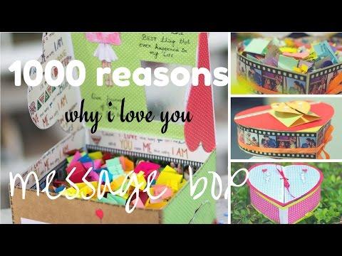 1000 reasons why i love you message box | message box idea | i love