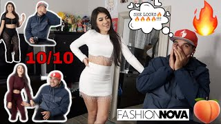 My BABY DADDY Rates My Fashion Nova Outfits!!