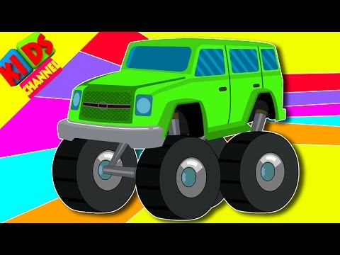 kids Jeep | learn colors with vehicles | children's video | kids videos