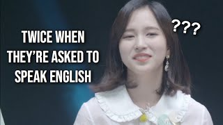 Video TWICE whenever they're asked to speak English download MP3, 3GP, MP4, WEBM, AVI, FLV November 2018