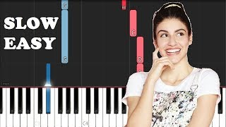 BIA - Si vuelvo a nacer (SLOW EASY PIANO TUTORIAL)