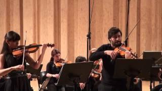 J. S. Bach Concerto for 2 violins Tamila Kharambura & Miguel Simões - Camerata Gareguin Aroutiounian