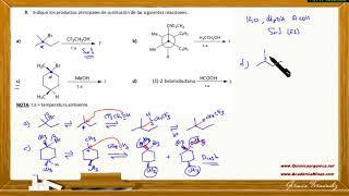Ejercicios de sustitución nucleófila unimolecular (SN1)