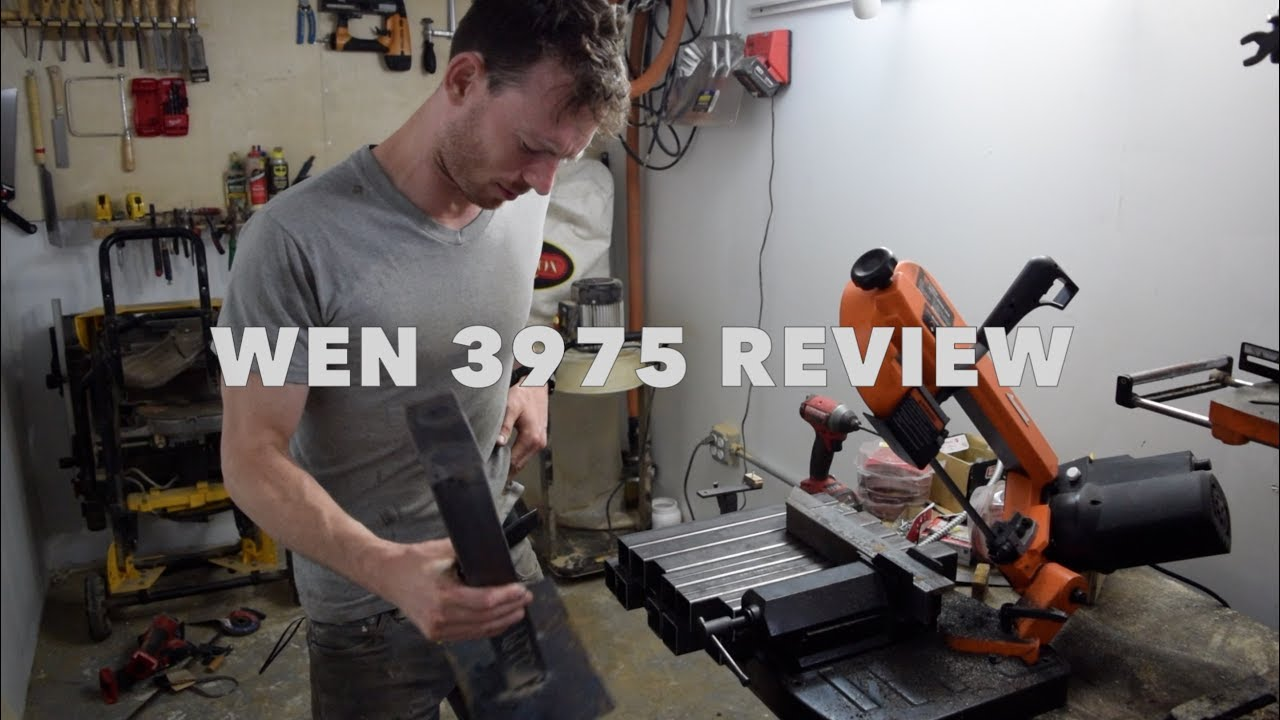 Wen 3975 5 Metal Cutting Benchtop Bandsaw Review Youtube