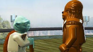 LEGO Star Wars The Complete Saga Walkthrough Part 16 - Chewie & Yoda!