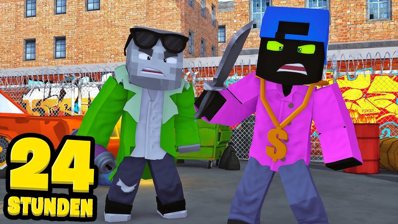 24 STUNDEN als GANGSTER LEBEN! - Minecraft [Deutsch/HD] thumbnail