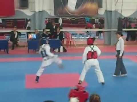 Dilara Körpeş Taekwondo girl knockout