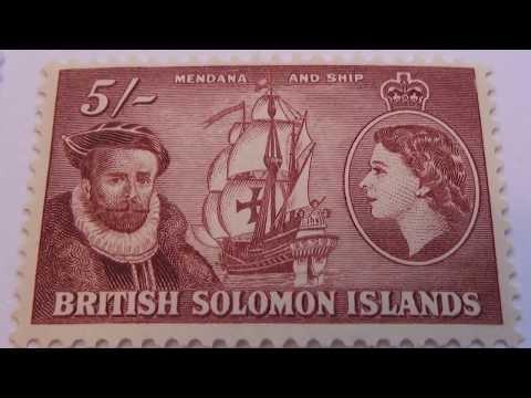 British Old/Rare Solomon Islands Postage Stamps