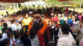 Army School Meerut Teachers Dancing