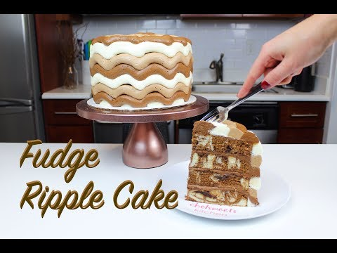 How To Make A Chocolate Fudge Ripple Cake | CHELSWEETS