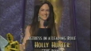 Holly Hunter winning Best Actress for The Piano