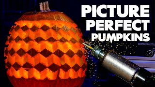 Robot carves photo real pumpkins