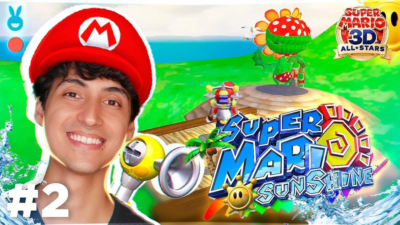 Tem algo esquisito nesse Super Mario Sunshine   Super Mario 3D All Stars Gameplay #2