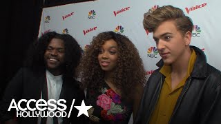 Davon Fleming, Shi'Ann Jones and Noah Mac Talk About Team Jennifer On 'The Voice'| Access Hollywood