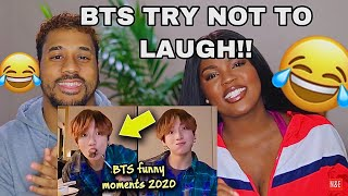 BTS Funny Moments 2020 Try Not To Laugh Challenge pt.1[REACTION]!!!!😂😂😂