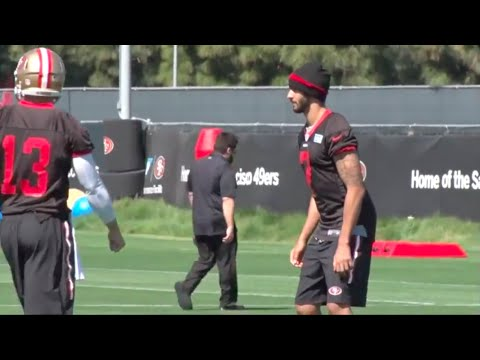 Colin Kaepernick practices at 2016 Minicamp (Video)