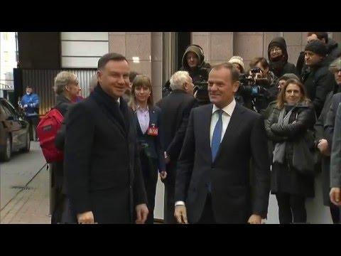 President Tusk receives the President of Poland