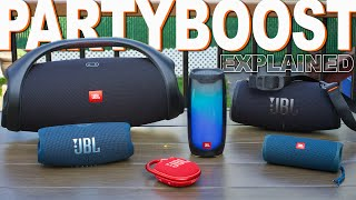 JBL PartyBoost Speaker Lineup Explained - Boombox 2 Xtreme 3 Charge 5 Pulse 4 Flip 5 Clip 4