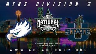 2019 ACHA Men's D2 National Championships (Game 14): FLORIDA GULF COAST (SE1) vs. UTAH STATE (W3) thumbnail