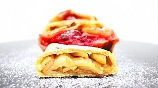 Творожный рулет с Яблоком и Вишней / Cottage Cheese Roll with Apple and Cherry