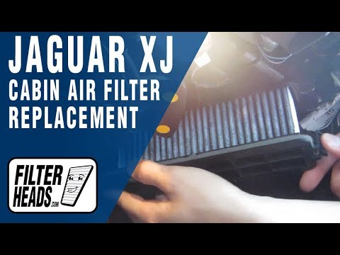 How To Replace Cabin Air Filter Jaguar Xj Youtube