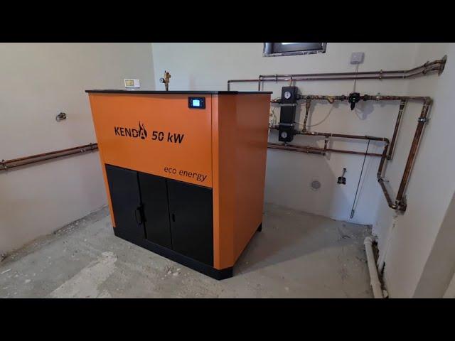 Centrala pe peleti Kenda EcoEnergy 50 kw - Cos inox izolat - Instalare + Functionare