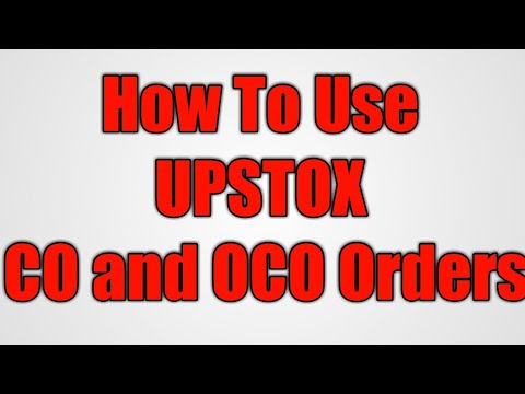 HOW To Use UPSTOX CO and OCO orders in TAMIL