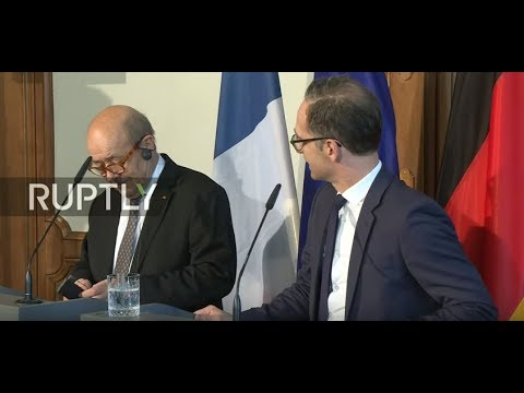 Live: German and French Foreign Ministers meet in Berlin