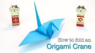 Paper Crane: How to make a Paper Crane. Easy Origami Crane tutorial, by OrigamiCalm.