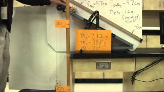 dh 13 demonstration mass on a frictionless incline pulley by mass over a pulley 1080 p hd