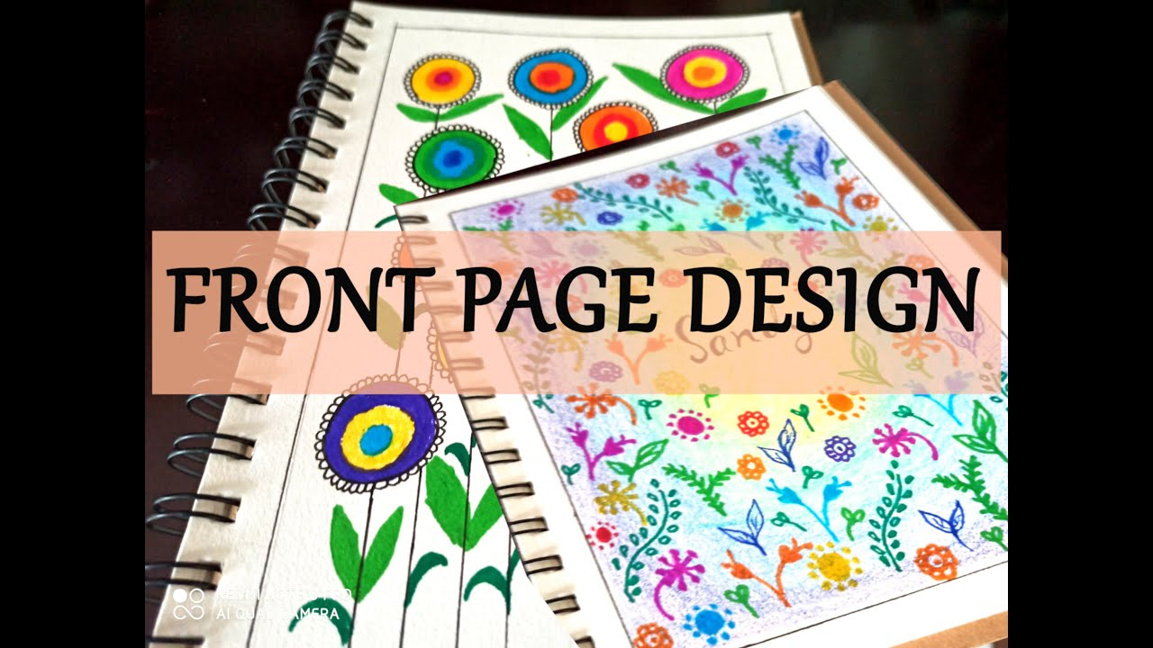 front page design for projects & assingment: simple and