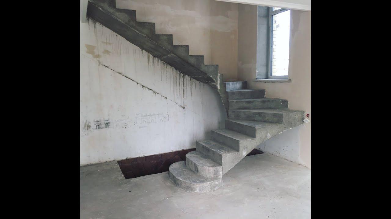 Как сделать бетонную лестницу на второй этаж: фото 328