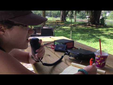 Portable HF Amateur Radio from Hontoon Island with Solar Power and Fishing Pole Antenna