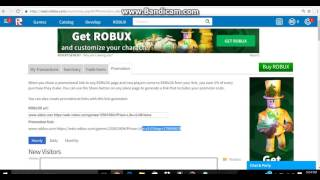 How to use the promotion link in roblox