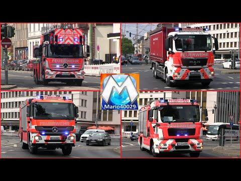 29.07.2019 Feuer Im MMK - Einsatzfahrten Feuerwehr Frankfurt/Main