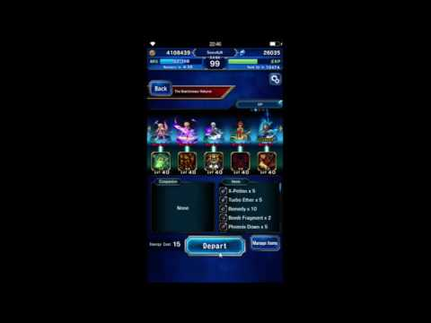 [FFBE Global] Main Characters vs. Chamber of the Reborn