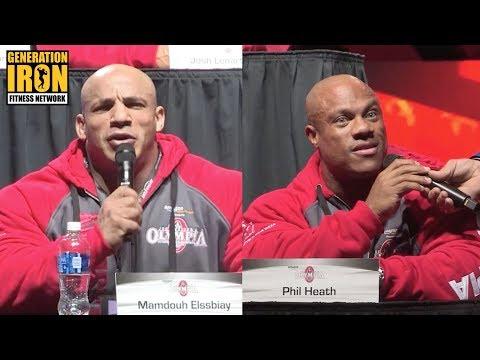 Big Ramy Vs Phil Heath At Heated Olympia 2017 Press Conference | Generation Iron